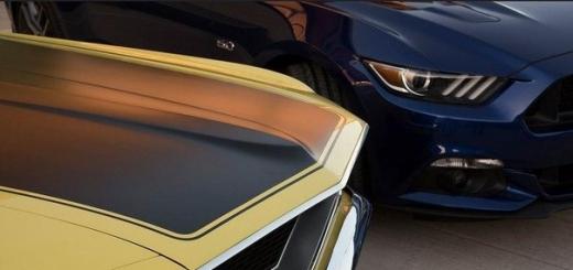 1969 Boss и 2015 Mustang GT. Отец и сын.