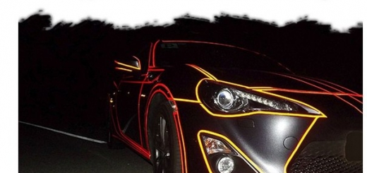 Дизайн автомобиля в стиле TRON