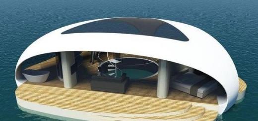 Дизайнеры представили плавающую виллу с подводной спальней