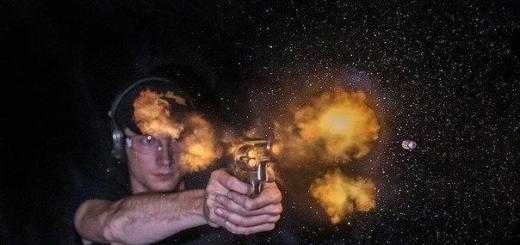 Высокоскоростная съемка выстрелов