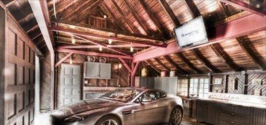 Шикарные интерьеры гаражей.