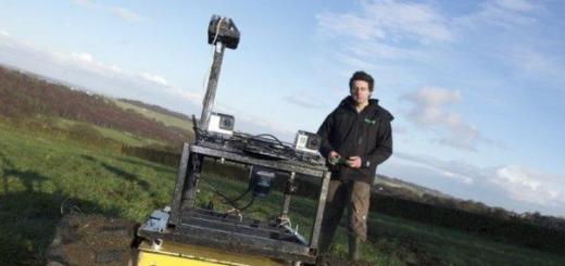 Робот-фермер на гусеничной платформе