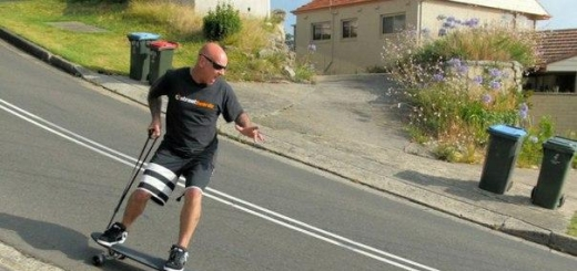 Скейтборд с тормозом на поводке