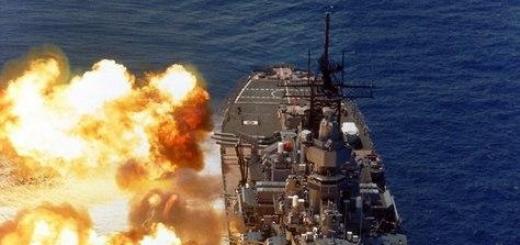 Эксклюзивные снимки залпов боевых кораблей
