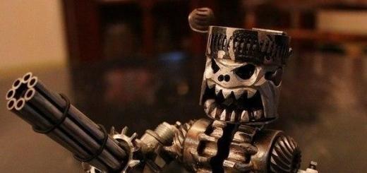 Суровые работы из деталей от мертвых двигателей и металлолома от парня по имени Tyler из компании Tigger Welding.