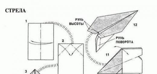 Модели бумажных самолетиков (инструкция)